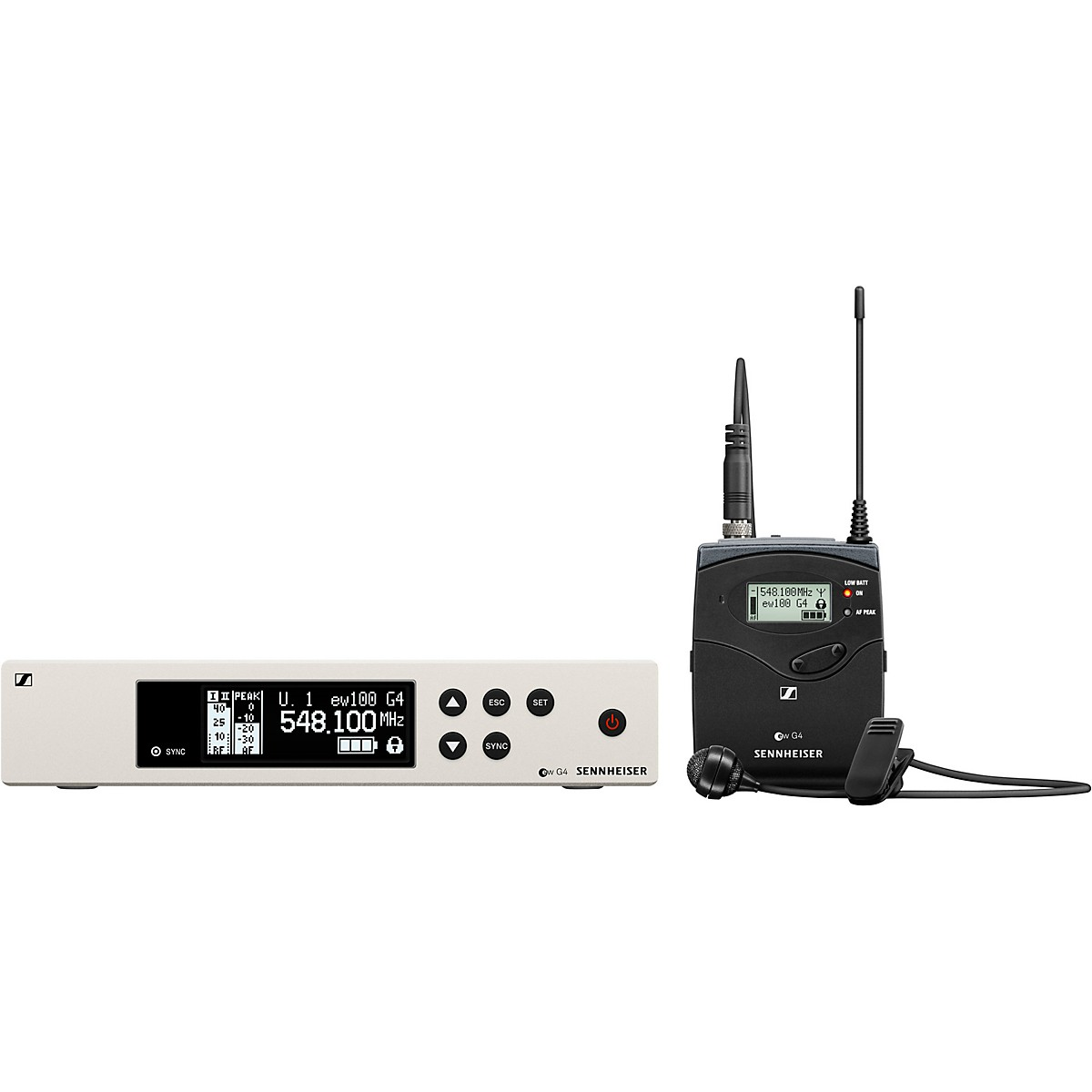 Sennheiser ew 100 G4 Lavalier Wireless System with ME2 Omnidirectional Lavalier Microphone