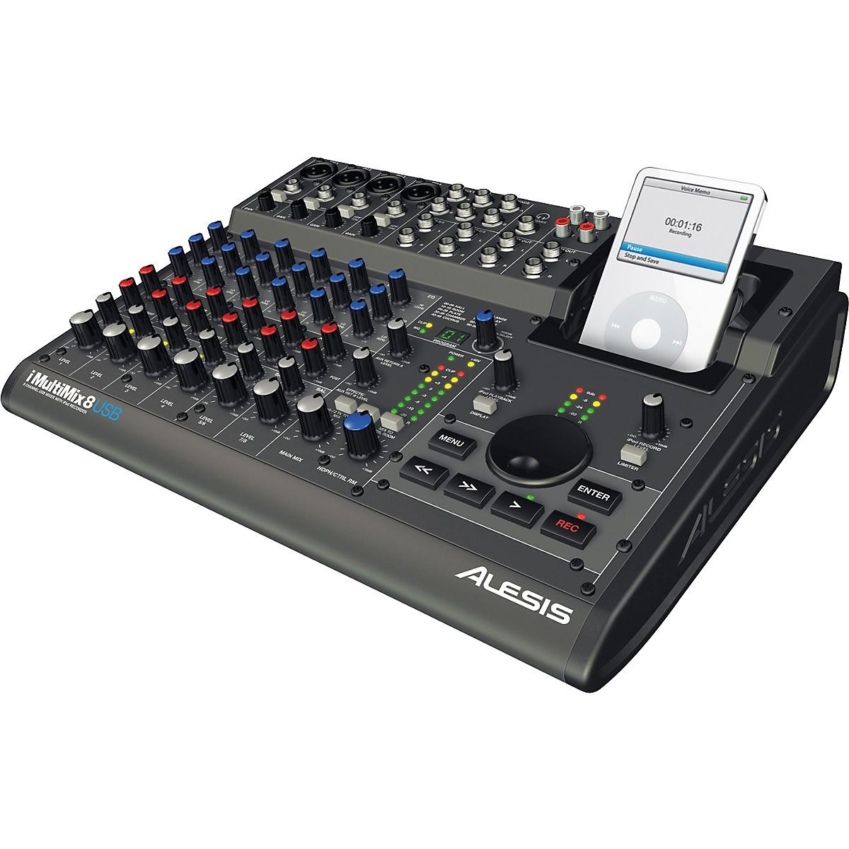 Alesis iMultiMix 8 USB Mixer with iPod Recording