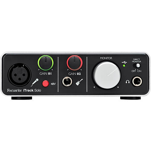 Focusrite iTrack Solo Audio Interface With Lightning Connection