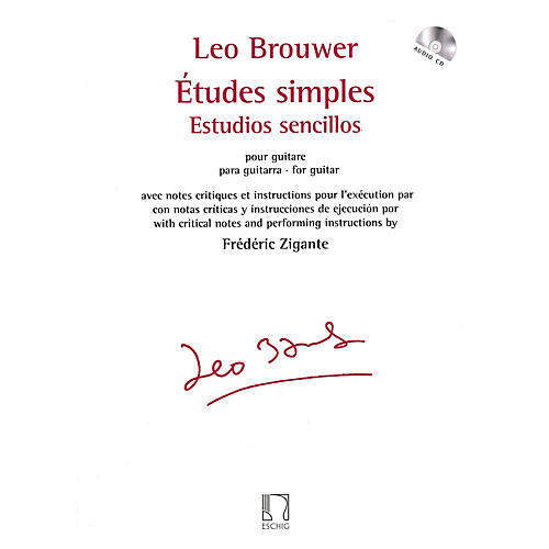 Max Eschig Études simples for Guitar Editions Durand Series Softcover with CD