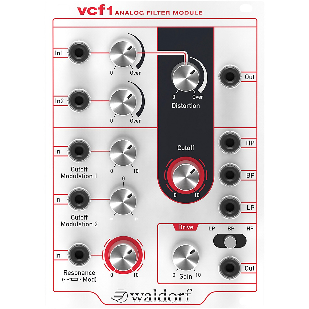 Waldorf vcf1 Voltage Controlled Filter Eurorack Module