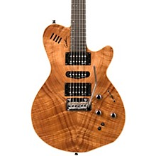 xtSA Flame Electric Guitar Natural Koa